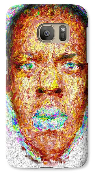 Jay Z Painted Digitally 2 Galaxy Case by David Haskett
