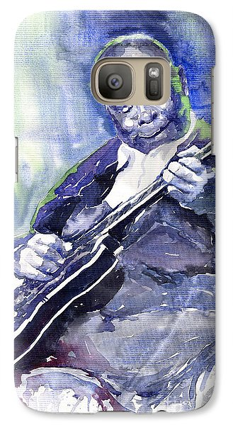 Jazz B B King 02 Galaxy S7 Case by Yuriy  Shevchuk
