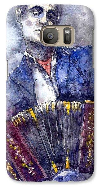 Jazz Galaxy S7 Case - Jazz Concertina Player by Yuriy Shevchuk