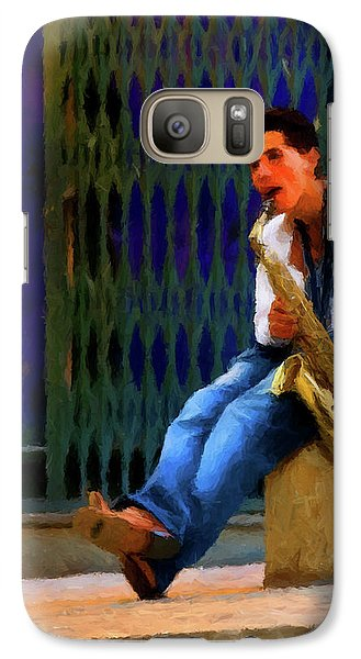 Galaxy Case featuring the photograph Jazz In The Street by David Dehner