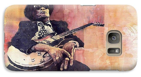 Jazz Galaxy S7 Case - Jazz John Lee Hooker by Yuriy Shevchuk