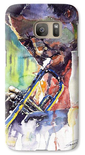 Jazz Galaxy S7 Case - Jazz Miles Davis 9 Blue by Yuriy Shevchuk
