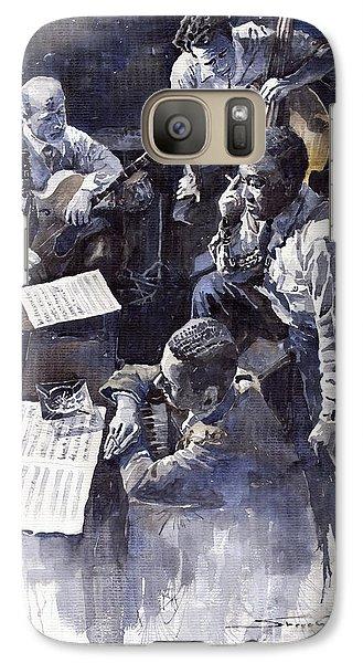 Jazz Parker Tristano Bauer Safransky Rca Studio Ny 1949 Galaxy S7 Case by Yuriy  Shevchuk