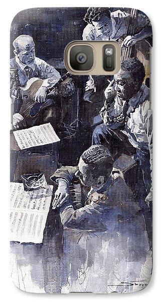 Jazz Galaxy S7 Case - Jazz Parker Tristano Bauer Safransky Rca Studio Ny 1949 by Yuriy Shevchuk