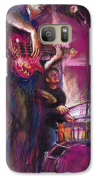 Jazz Purple Duet Galaxy S7 Case by Yuriy  Shevchuk