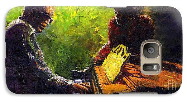 Jazz Galaxy S7 Case - Jazz Ray Duet by Yuriy Shevchuk