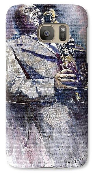 Jazz Galaxy S7 Case - Jazz Saxophonist Charlie Parker by Yuriy Shevchuk