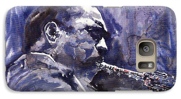 Saxophone Galaxy S7 Case - Jazz Saxophonist John Coltrane 01 by Yuriy Shevchuk