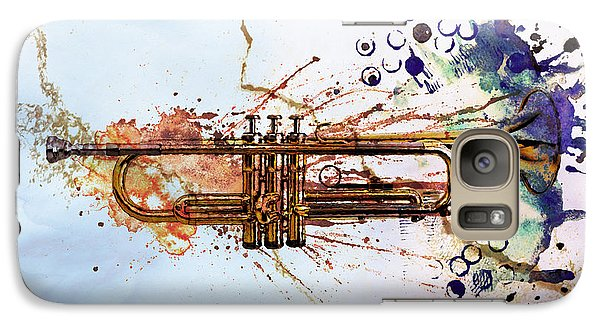 Music Galaxy S7 Case - Jazz Trumpet by David Ridley