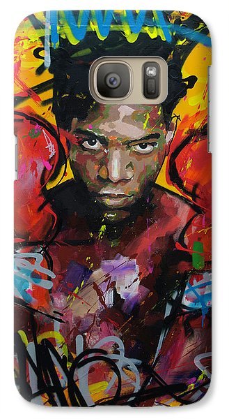 Galaxy Case featuring the painting Jean-michel Basquiat by Richard Day