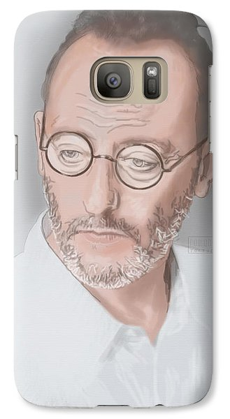 Galaxy Case featuring the mixed media Jean Reno by TortureLord Art