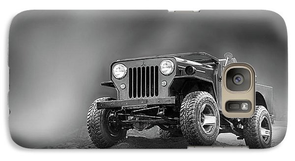 Galaxy Case featuring the photograph Jeep Bw by Charuhas Images
