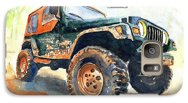 Car Galaxy S7 Case - Jeep Wrangler Watercolor by Carlin Blahnik CarlinArtWatercolor