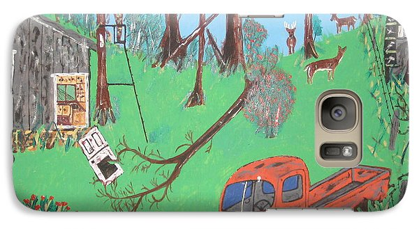 Galaxy Case featuring the painting Jeff Bowhunting by Jeffrey Koss