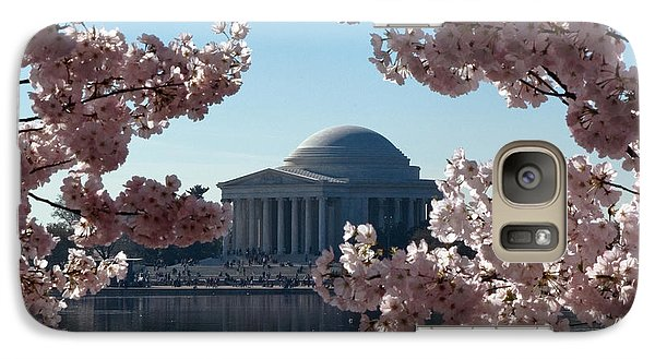 Galaxy Case featuring the photograph Jefferson Memorial At Cherry Blossom Time On The Tidal Basin Ds008 by Gerry Gantt