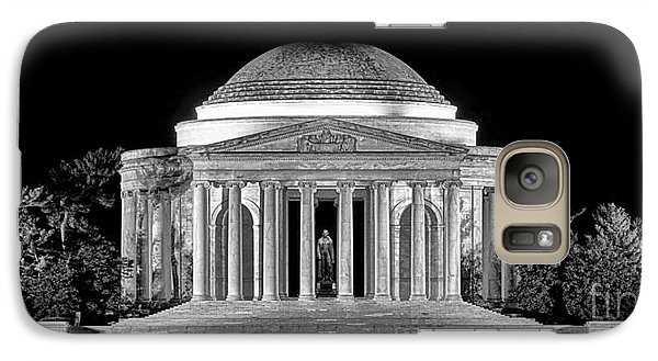 Jefferson Memorial Lonely Night Galaxy S7 Case by Olivier Le Queinec