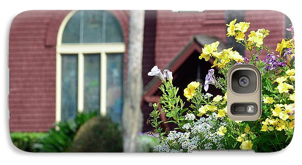 Galaxy Case featuring the photograph Jekyll Island Chapel And Flowers by Bruce Gourley