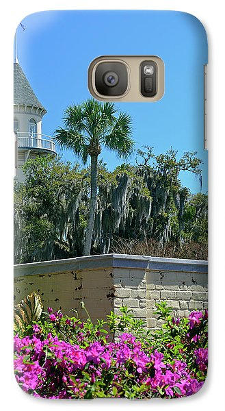 Galaxy Case featuring the photograph Jekyll Island Club Hotel And Azaleas by Bruce Gourley