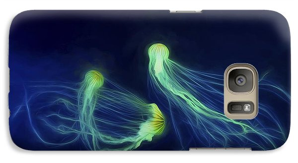 Galaxy Case featuring the photograph Jellyfish Tango by Steven Richardson
