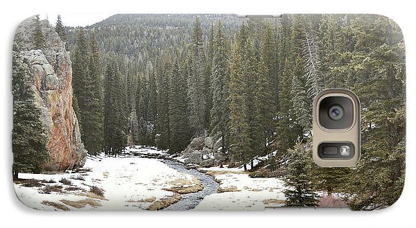 Galaxy Case featuring the photograph Jemez Mountains Forest Stream by Andrea Hazel Ihlefeld