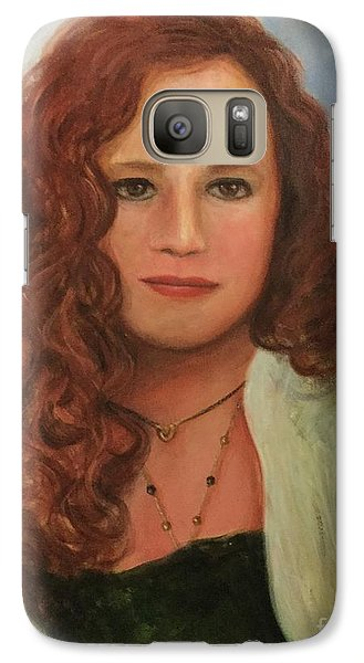Galaxy Case featuring the painting Jennifer by Randol Burns