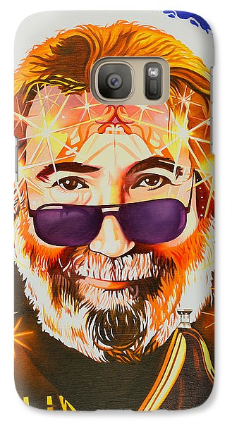 Galaxy Case featuring the painting Jerry Garcia-dark Star by Joshua Morton