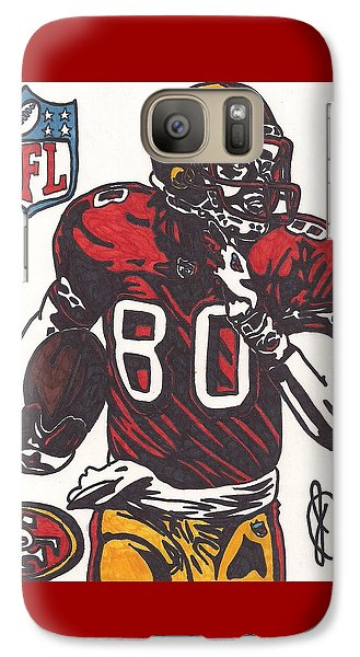 Galaxy Case featuring the drawing Jerry Rice by Jeremiah Colley