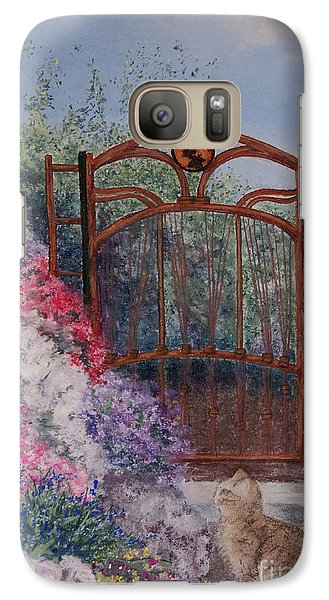 Galaxy Case featuring the painting Jerrys Garden by Stanza Widen
