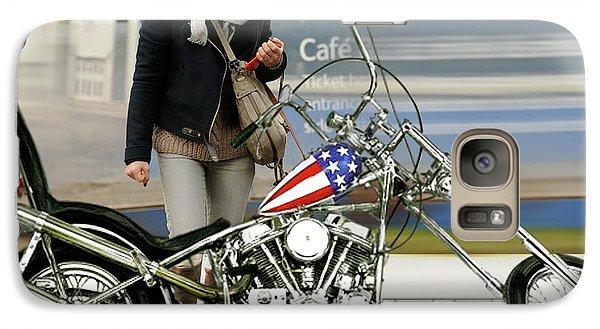 Jessica Alba, Captain America, Easy Rider Galaxy S7 Case
