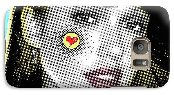 Jessica Alba Pop Art, Portrait, Contemporary Art On Canvas, Famous Celebrities Galaxy S7 Case