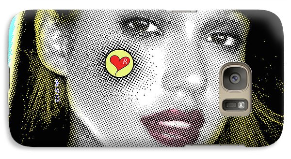 Jessica Alba Pop Art, Portrait, Contemporary Art On Canvas, Famous Celebrities Galaxy S7 Case by Dr Eight Love