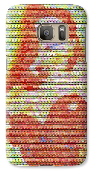 Galaxy Case featuring the mixed media Jessica Rabbit Pez Mosaic by Paul Van Scott