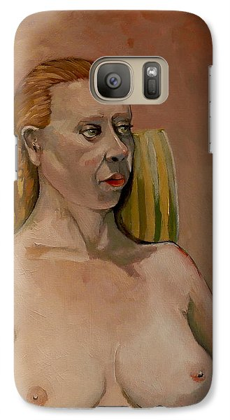 Galaxy Case featuring the painting Jessica S by Ray Agius