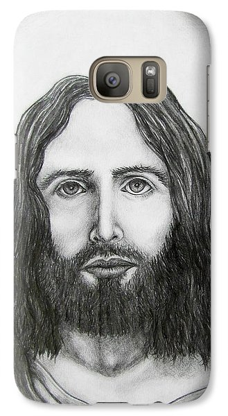 Galaxy Case featuring the drawing Jesus Christ by Michael  TMAD Finney