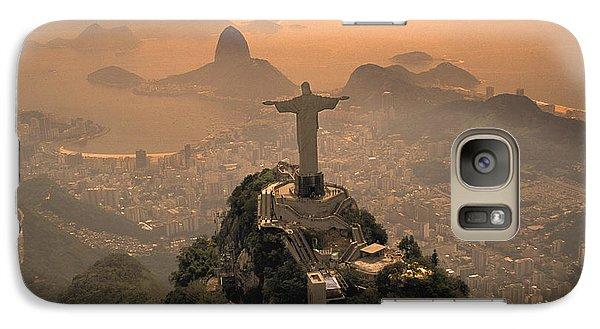 Jesus In Rio Galaxy Case by Christian Heeb