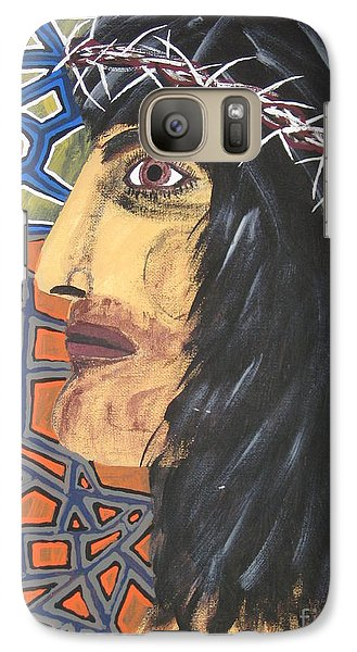 Galaxy Case featuring the painting Jesus by Jeffrey Koss