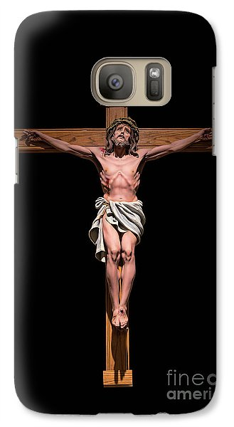 Galaxy Case featuring the photograph Jesus, Savior Of The World by Bonnie Barry