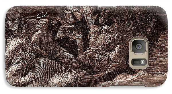 Jesus Stilling The Tempest Galaxy S7 Case by Gustave Dore