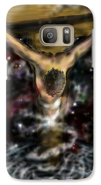 Galaxy Case featuring the digital art Jesus World by Darren Cannell