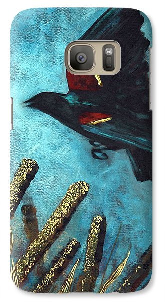 Galaxy Case featuring the painting Jewel Among The Cattails by Suzanne McKee
