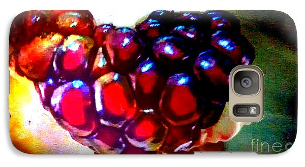 Galaxy Case featuring the painting Jeweled Heart In Light And Dark by Genevieve Esson