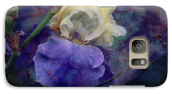 Galaxy Case featuring the photograph Jeweled Iris by Toni Hopper