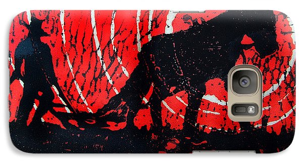 Galaxy Case featuring the relief Jezebel And Me by Seth Weaver