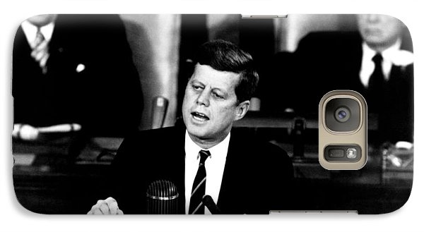 Pig Galaxy S7 Case - Jfk Announces Moon Landing Mission by War Is Hell Store