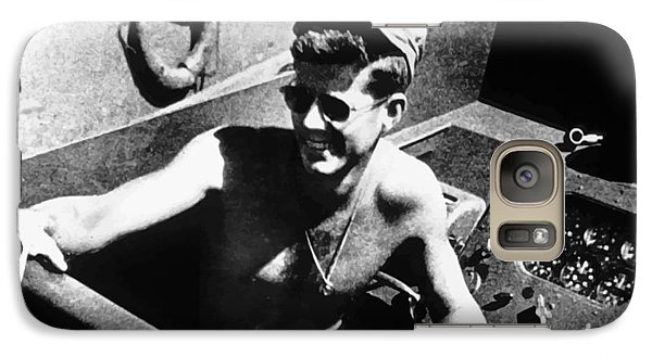 Pig Galaxy S7 Case - Jfk On Pt 109 Painting by War Is Hell Store