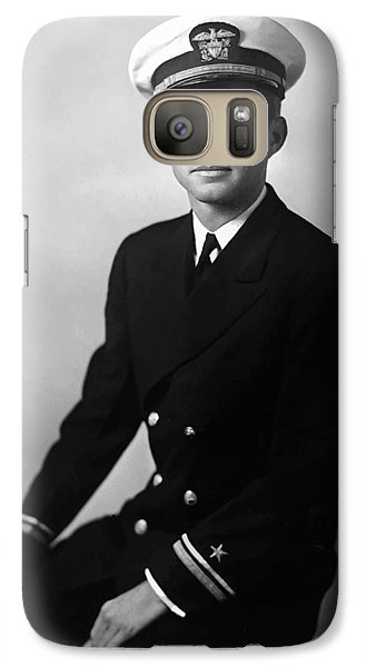 Pig Galaxy S7 Case - Jfk Wearing His Navy Uniform Painting by War Is Hell Store