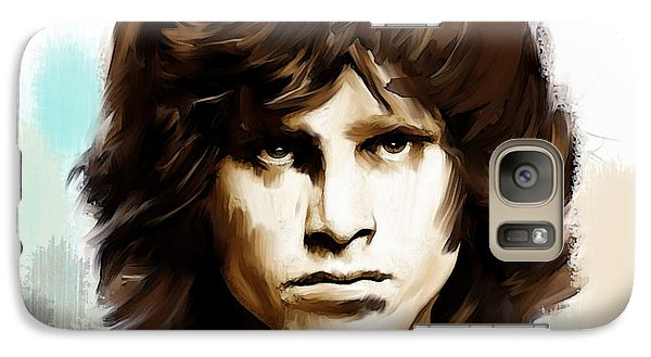 Galaxy Case featuring the painting Jim Morrison Stolen Dust by Iconic Images Art Gallery David Pucciarelli