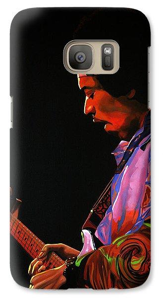 Knight Galaxy S7 Case - Jimi Hendrix 4 by Paul Meijering