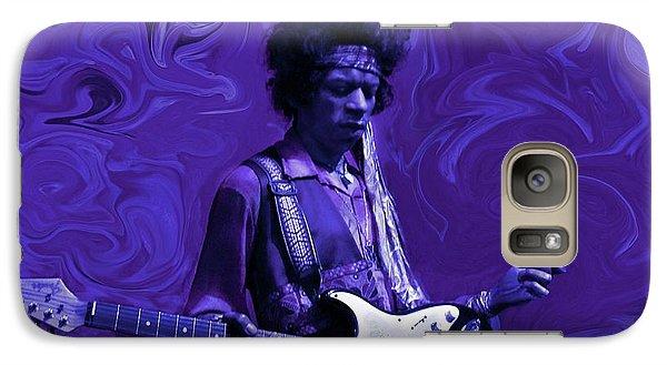 Rock And Roll Galaxy S7 Case - Jimi Hendrix Purple Haze by David Dehner