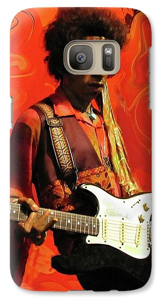 Galaxy Case featuring the photograph Jimi Hendrix Purple Haze Orange by David Dehner